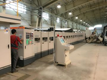 50Hz Corrugated Paperboard Production Line , Fully Automatic Corrugated Box Making Machine