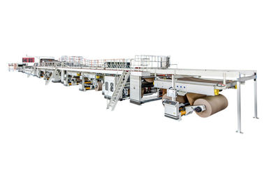 High Speed Corrugated Board Production Line Steam Heating 0.8-1.2Mpa 1800mm-II Type