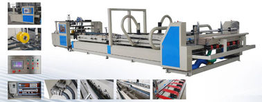 China 5T Automatic Carton Folder Gluer Machine Touch Screen Control With Vacuum Feeding Section factory