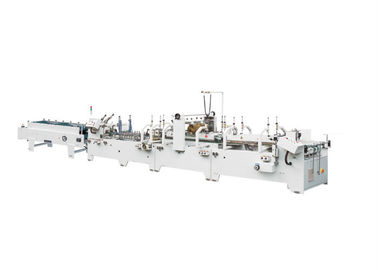 Servo Motor Control Carton Folding Gluing Machine , Automatic Folder Gluer Stitcher