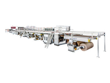 China QH-PACK 5 Ply Corrugated Cardboard Production Line , Corrugated Paper Making Machine factory