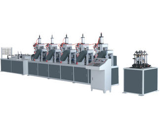 China QHJQ-GS Automatic Paper Cone Making Machine Angle Punching Machine distributor
