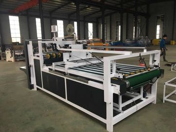 China QH Semi - Automatic Folder Gluer Carton Box Making Machine 60m/Min Speed distributor