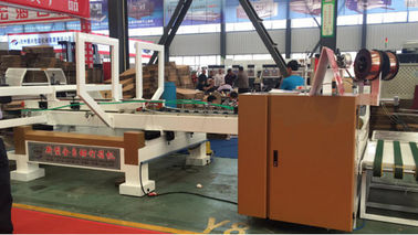 China High Speed Fully Automatic Carton Stitching & Gluing Machine / Corrugated Box Stitcher & Gluer distributor