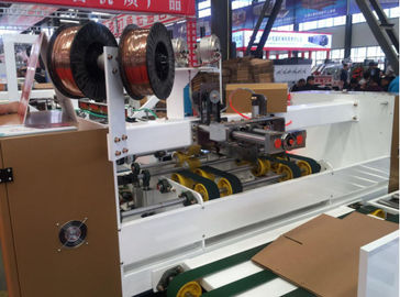 China QHAS1425 Fully Automatic Corrugated Carton Box Stitching Machine 45 Pieces /Min Speed distributor