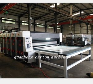 China QH corrugated cardboard chain feeder flexo printing slotter die cutter machine distributor