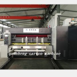 China QH high speed corrugated carton lead edge feeder flexo Printing Die Cutting Machine distributor