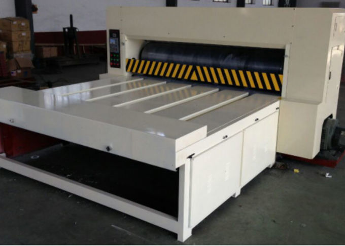 Automatic Corrugated Box Machine , Chain Feeder Rotary Die Cutting Equipment