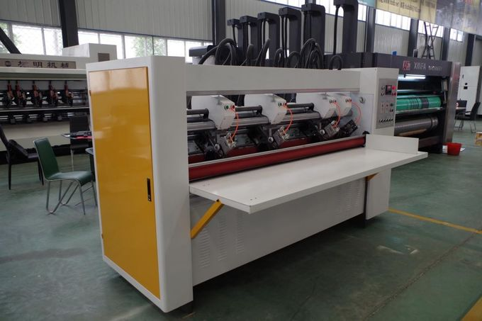 Electric Adjust Eight Roll Type Corrugated Slitter Machine Thin Blade 1 Year Warranty